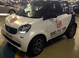 burger king smart car graphics