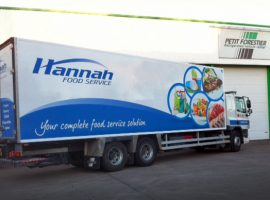 hannah foods truck livery