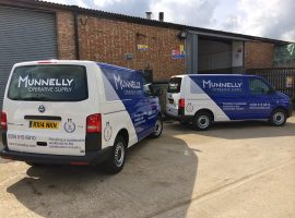 munnelly construction minibus part wrap