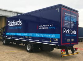 pickfords removal truck livery
