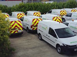 mcnicholas virgin media caddy van fleet graphics
