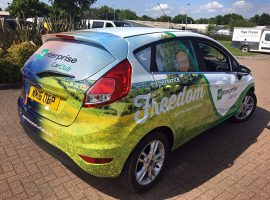 enterprise car club car wrap