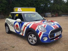 mini freedom 2 drive car wrap